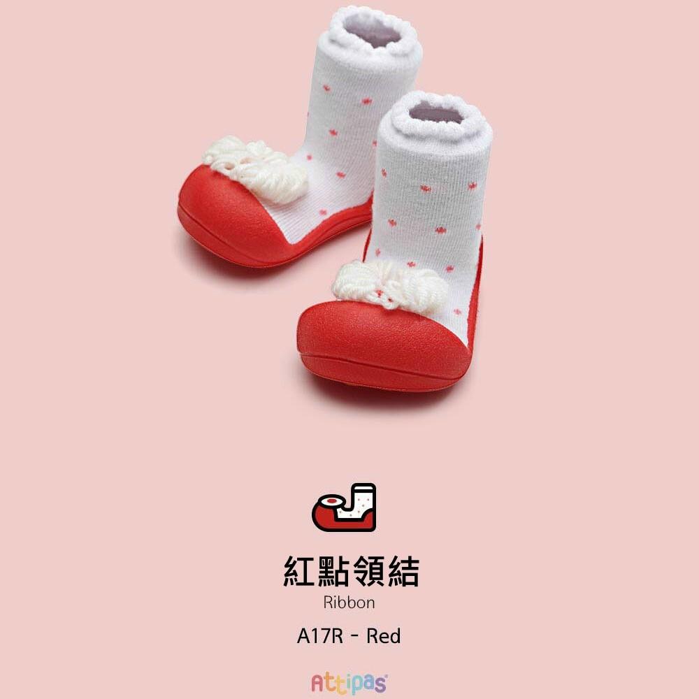 韓國Attipas快樂學步鞋-紅點領結