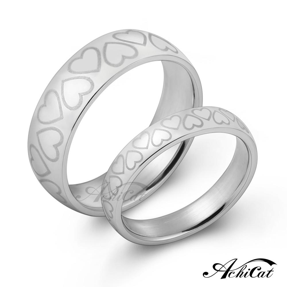 achicat 情侶對戒 白鋼戒指 無盡愛意 愛心 單個價格 a8043