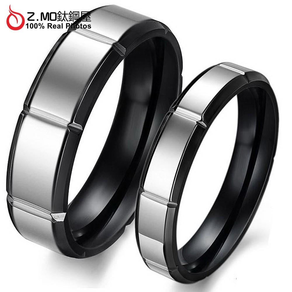 情侶對戒指 Z.MO鈦鋼屋 戒指 情侶戒指 鈦鋼戒指 白鋼對戒 情人對戒 可刻字 素面戒指 尾戒【BKY296】
