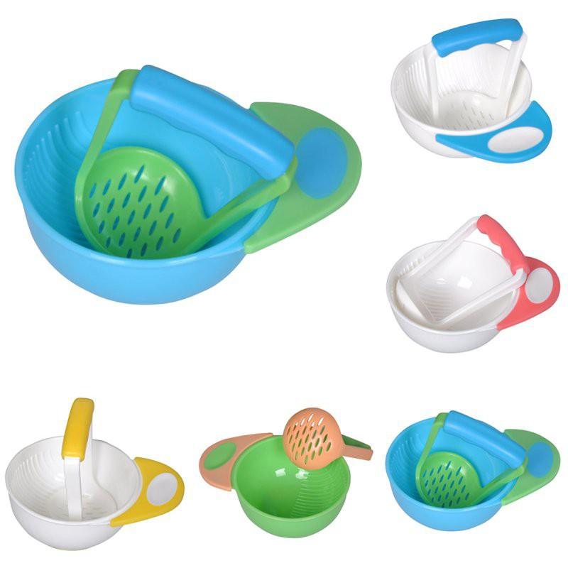 蹣跚學步嬰兒嬰兒學習菜磨床碗孩子手工磨床食品磨坊【IU貝嬰屋】