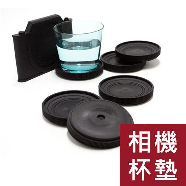 創意仿真復古相機杯墊(4色)