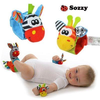 【寶貝屋】動物搖鈴襪套‧我的小腳在哪裡‧手眼協調能力‧寶寶益智玩具