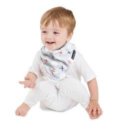【Mum 2 Mum】雙面竹纖維棉機能口水巾圍兜-飛機/藍條紋