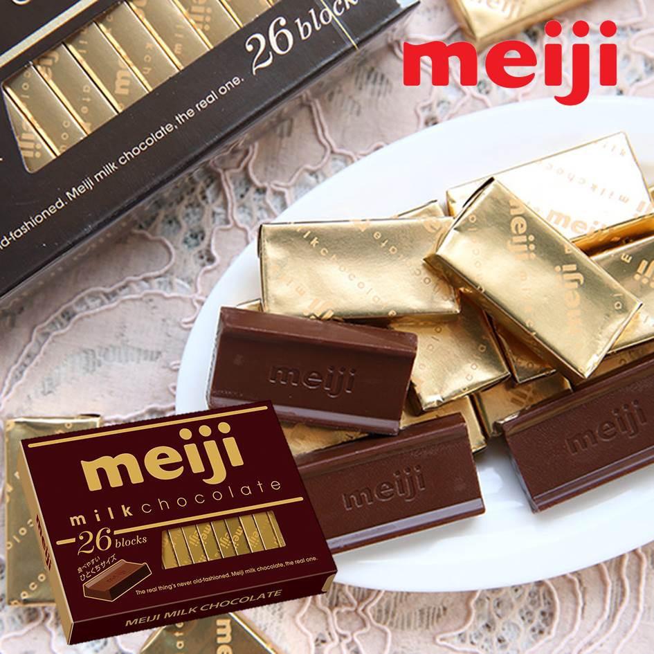 【Meiji明治】巧克力26枚牛奶巧克力 120g 日本進口零食 挑食屋