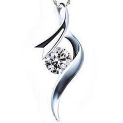 【米蘭精品】925純銀項鍊鑲鑽吊墜花樣年華造型獨特銀飾