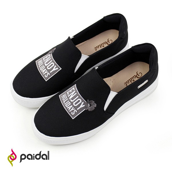 Paidal ENJOY HOLIDAYS字母厚底休閒鞋