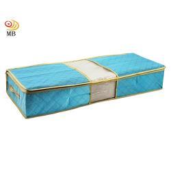 月陽80X40竹炭彩色透明視窗床下棉被衣物收納袋整理箱超值2入(C70LX2)