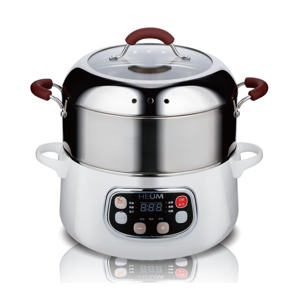 HEUM 韓國1.7公升三層電火鍋 蒸火鍋 美食鍋 HU-RK1288