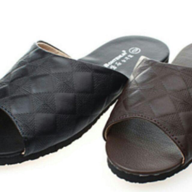 經典菱格舒適室內拖鞋