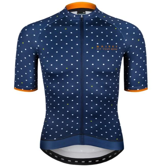 BAISKY 百士奇 男款短車衣 紳士 星點藍 自行車衣