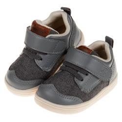 《布布童鞋》BABYVIEW頂級灰色透氣柔軟機能寶寶學步鞋(13~18公分) [ O9C073J ]