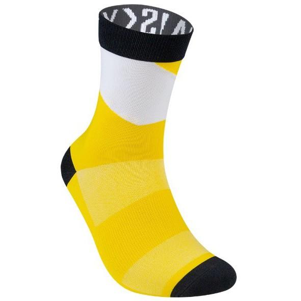 BAISKY百士奇自行車公路車飛輪單速車慢跑運動襪 幾何 黑黃