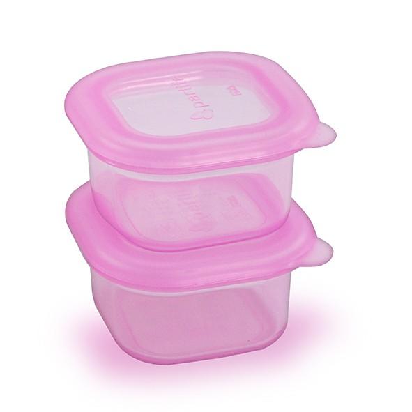 Partita 帕緹塔 矽膠保鮮盒100mlx2(粉色)