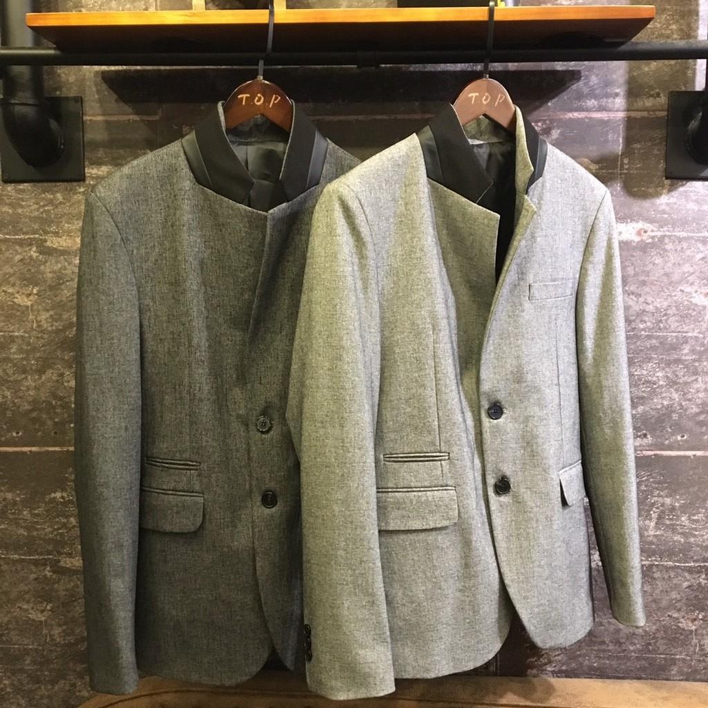 【現貨】正韓 翻領撞色質感西裝外套 H414 TOP_Korea