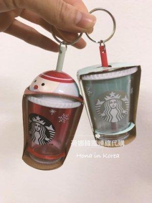 現貨,韓國 starbucks 星巴克 10月 冰沙聖誕老公公 雪花 隨行冷水杯 咖啡杯 造型 鑰匙圈 吊飾 單個