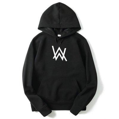 Alan Walker Logo 全球百大DJ 長袖刷毛連帽T 3色 電音舞曲派對EDM
