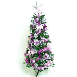 摩達客 超級幸福12尺/12呎(360cm)一般型裝飾綠聖誕樹 (+銀紫色系配件組)(不含燈)本島免運費