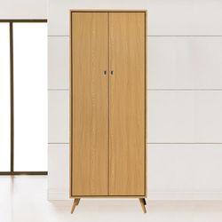 【時尚屋】[MT7]無印風2.5尺雙吊衣櫥MT7-102-1免運費/免組裝