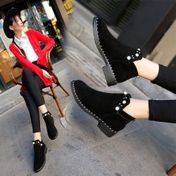 森之舞 英倫優雅短靴-黑色/灰色(現貨+預購)