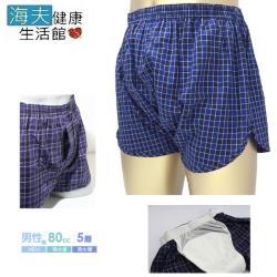 【海夫健康生活館】蕾莎 日本男用 藍格防漏安心褲(80cc)[C486x]