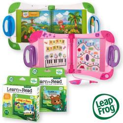 美國【LeapFrog 跳跳蛙】LeapStart 全英幼童行動學習機+行動閱讀套組1+行動閱讀套組2(共12本)