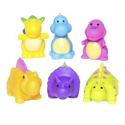 【美國Elegant Baby】洗澡玩具6入組- 恐龍派對 #40565