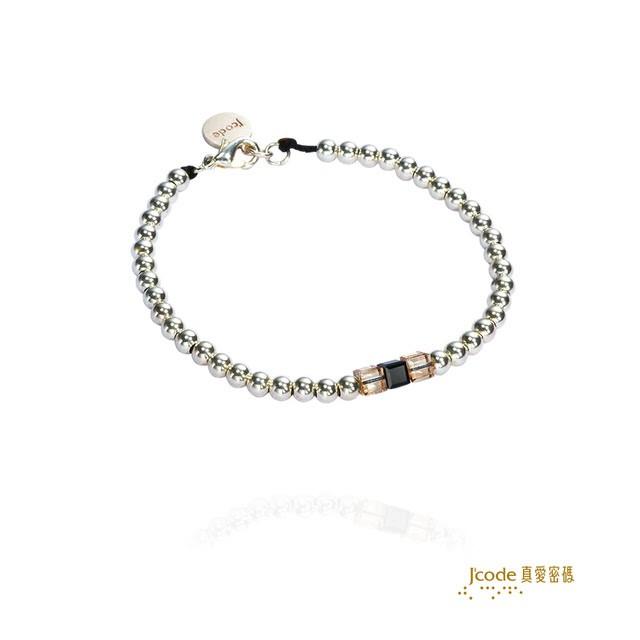 【J'code 真愛密碼】真愛方程式-純銀手鍊/女款(時尚銀飾)