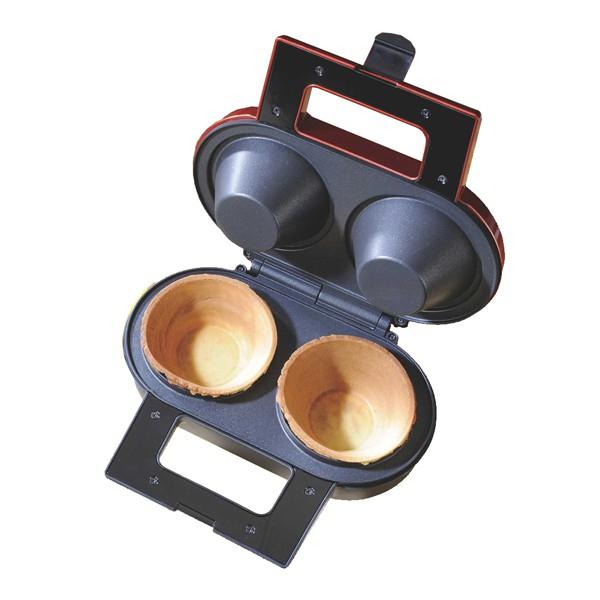[商品特色]A.附電源/加熱指示燈,料理更簡單。 B.一次可做2個杯子 C.不沾黏烤盤好清理 D.可做不種尺寸大小杯子,可自己自行做出各種美食料理。 [商品規格]型號:LCM-143保固: 一年(依發