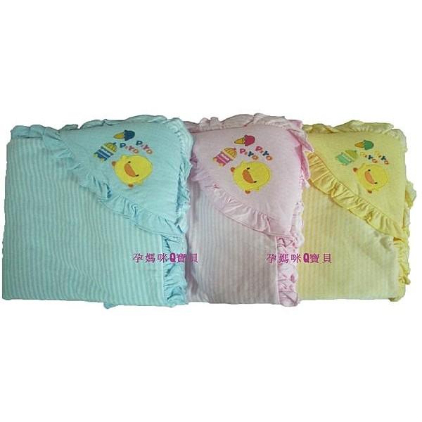 【孕媽咪Q寶貝】全新台灣製黃色小鴨新生兒包巾(冬款超保暖)~81569