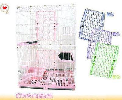 ☆米可多寵物精品☆新型日式2層豪華精緻貓籠抽取式底盤貓砂盆喝水器飼料碗
