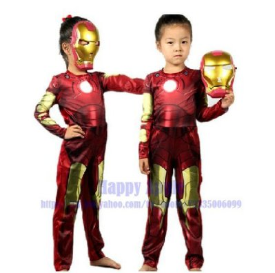 **Happy Apple** 萬聖節.聖誕節.派對表演服裝舞蹈用品化裝舞會/造型服~英雄聯盟/鋼鐵人服裝-小孩