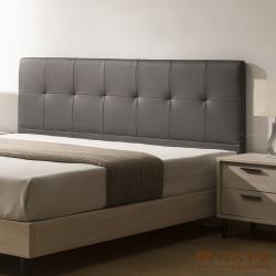 日本直人木業-STYLE鋼鐵灰貓捉布5尺床頭-不包括床底
