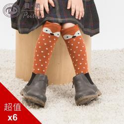 PEILOU 貝柔立體超萌兒童止滑長襪 6入組 (多款可選)