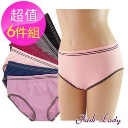【PINK LADY】運動風格 親膚無縫內褲3610(6件組)
