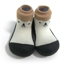 韓國Attipas快樂學步鞋-北極熊黑底