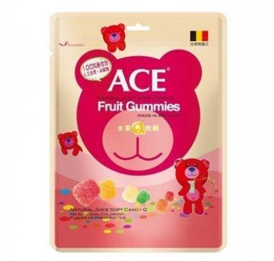 ACE 水果Q軟糖 48g - 比利時原裝進口,醫療院所推薦,100%無人工色素防腐劑,營養好吃!