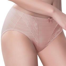 思薇爾 輕沁舒系列M-XXL蕾絲中腰三角內褲(晨曦膚)