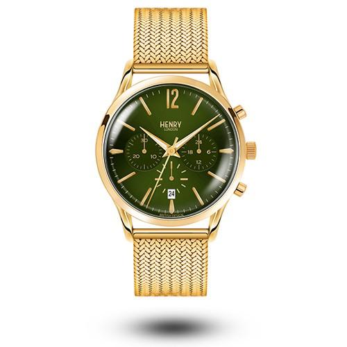 HENRY LONDON英國設計師品牌手錶 | HL41-CM-0108 森林綠 復古造型三眼手錶