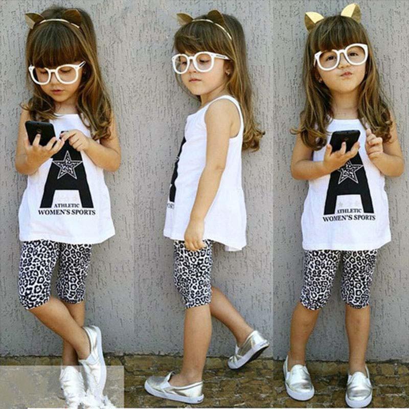 2件幼兒童裝女童背心T恤上衣豹紋褲2-7Y【IU貝嬰屋】