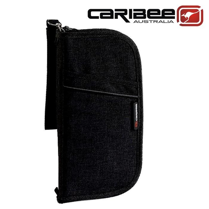 Caribee 護照錢包/護照證件包/隨身小包/出國旅遊 Travel Document Wallet黑 CB-1226