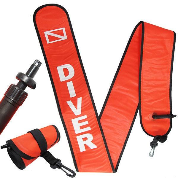 口吹式/BC管充氣 浮力帶/ 浮力棒 /水面浮標 6FT (180 CM) 橘色 浮潛 深潛