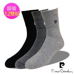 皮爾卡登 pierre cardin 3/4無鬆緊帶寬口襪(12雙組#PC2003)