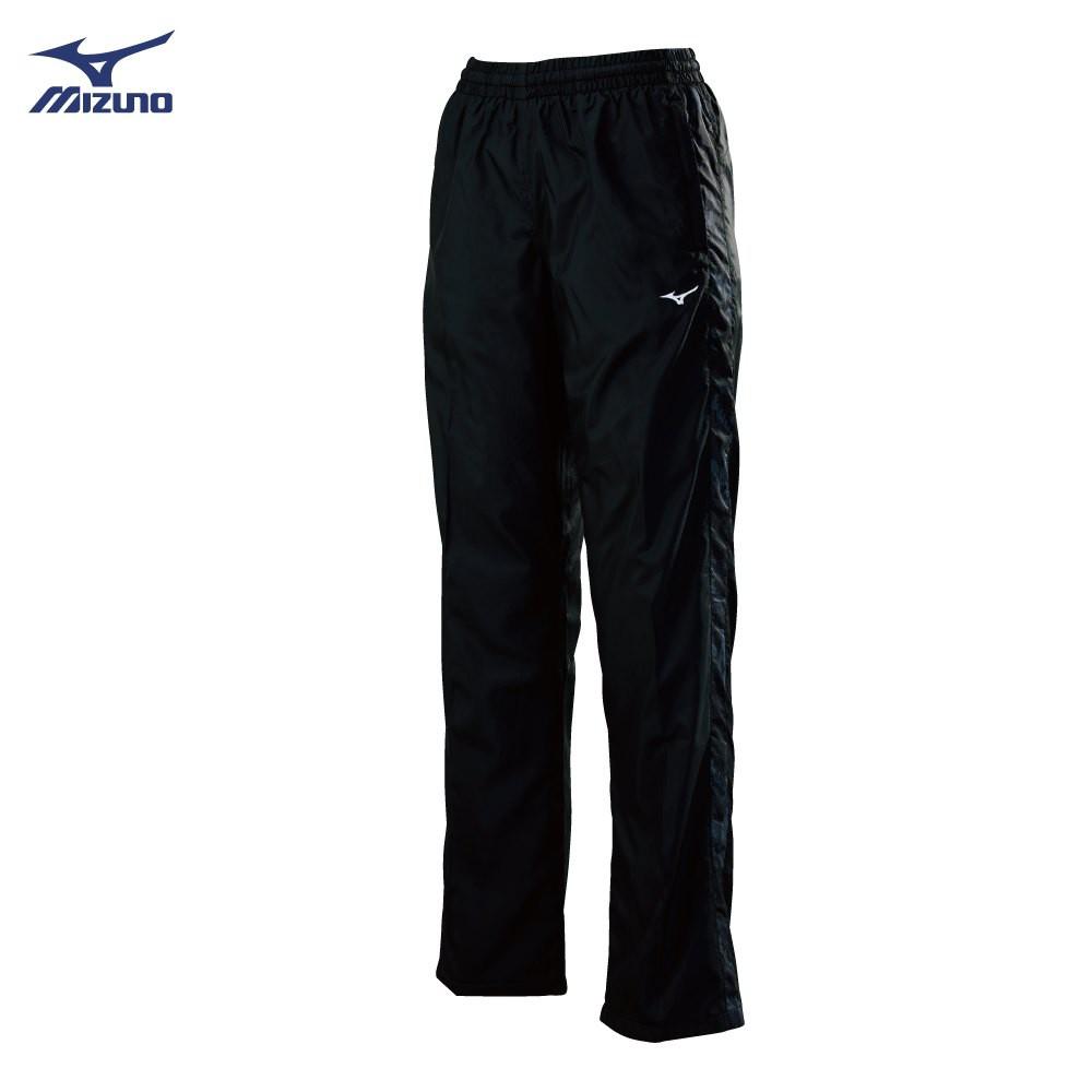 美津濃 MIZUNO 女款風衣套裝長褲 32TF878299(黑X黑紋)
