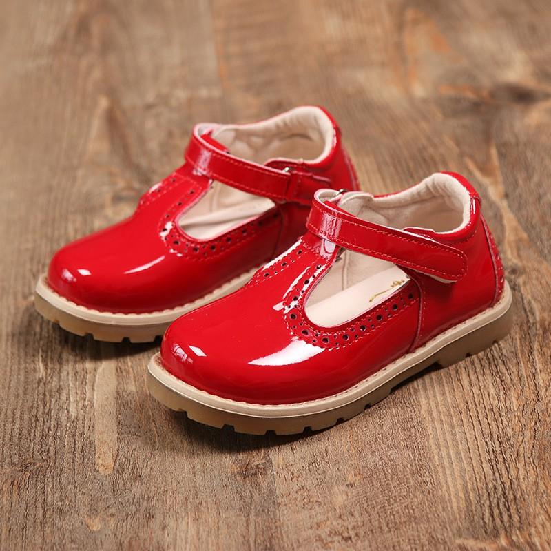 現貨A秋季新款單鞋韓國女童漆皮公主鞋英倫復古風皮鞋丁字童鞋
