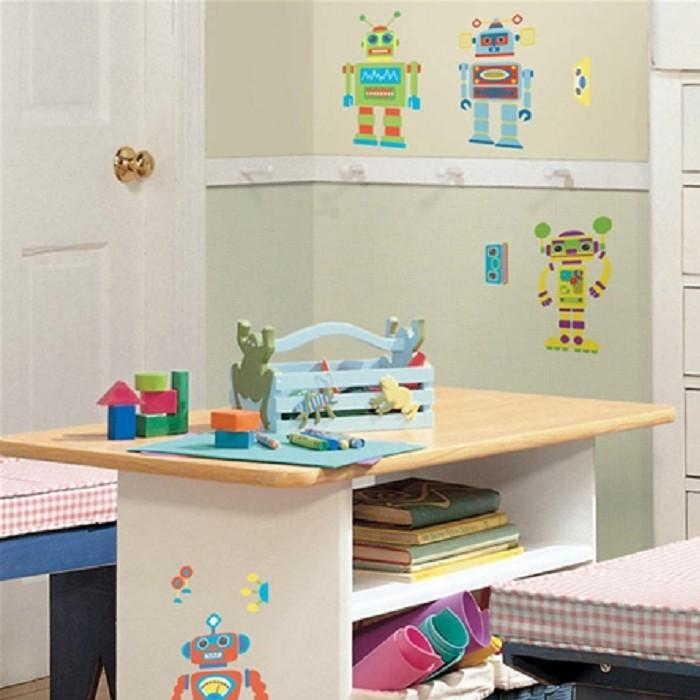 【媽咪可兒】Roommates美國原裝進口壁貼-機器人 卡通壁貼 無痕壁貼 臥房裝飾 居家佈置 牆面裝飾