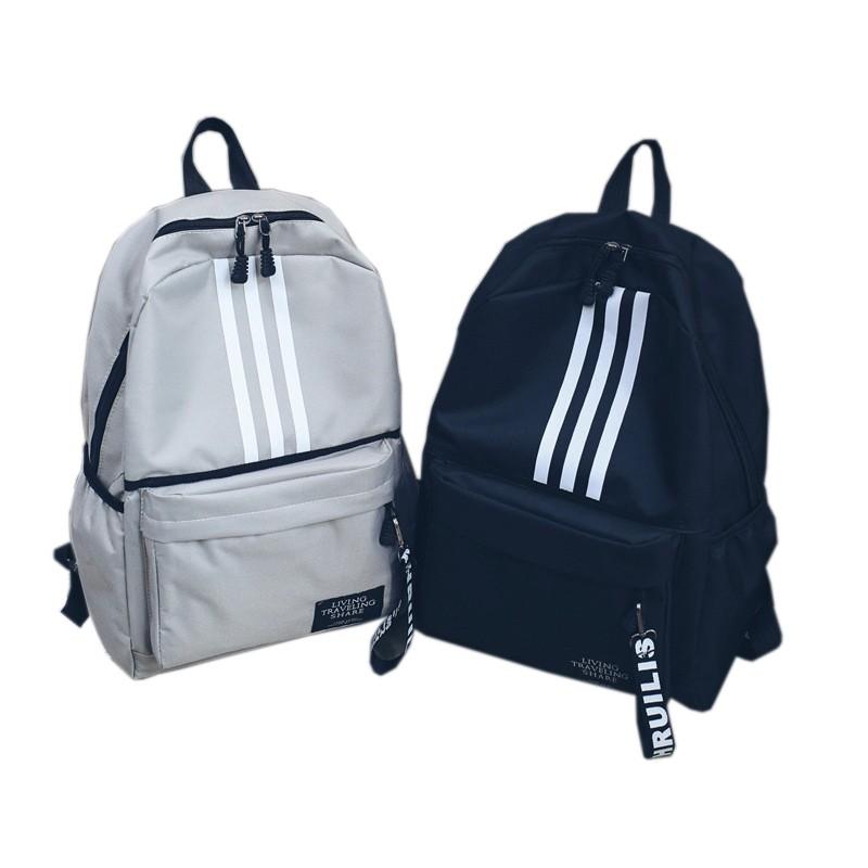 歐美風雙肩包男大容量情侶背包大學高中學生書包校園旅行潮牌背包