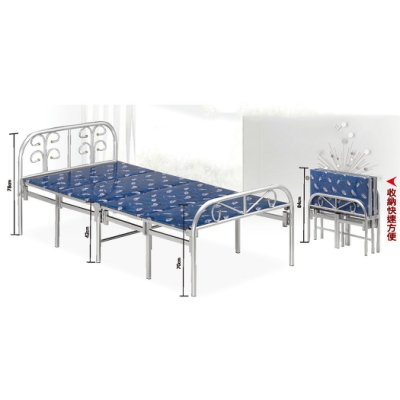 【在地人傢俱】21 便宜購-藍色四摺床/四折床/收合床/單人床架/鐵床~熱銷款 SH545-2