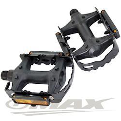 OMAX鋁合金高級防滑-反光片踏板-2入(1組)