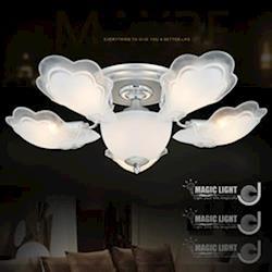 【光的魔法師 Magic Light】銀天使 半吸頂五燈 臥室燈具 吸頂燈飾