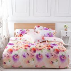 Betrise覓羽花靜  特大-100%天絲TENCEL四件式鋪棉兩用被床包組